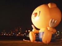 【まんパク】お疲れ様でした!!有明の夜景に達成感に満ちた豚さん。